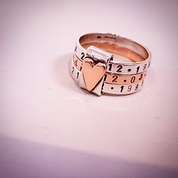 Personalised rose gold rings