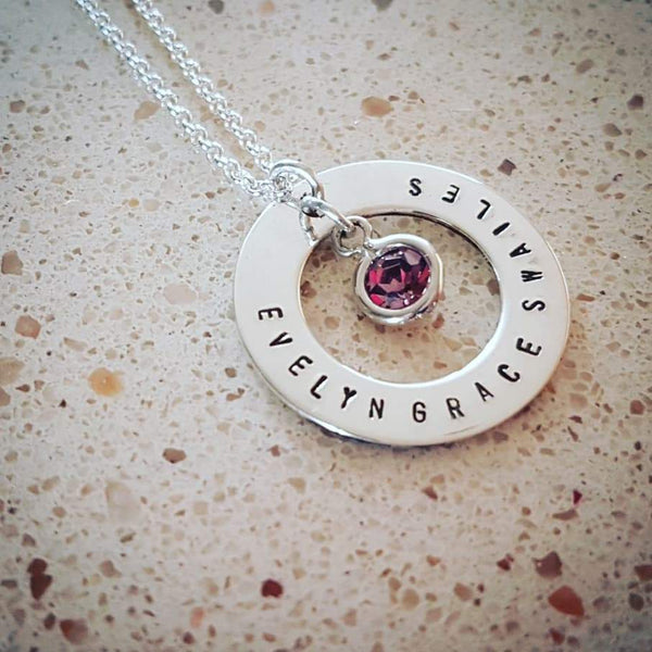 Personalised sterling silver necklace - Red Ted's Jewellery
