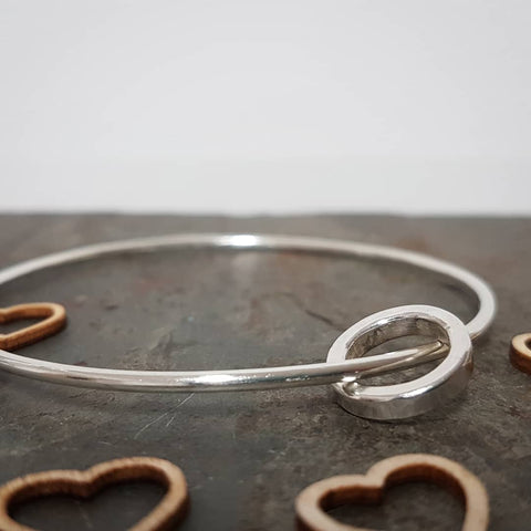 Silver Personalized bangle