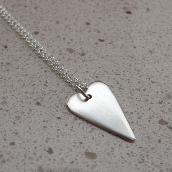 Silver heart pendant - Red Ted's Jewellery