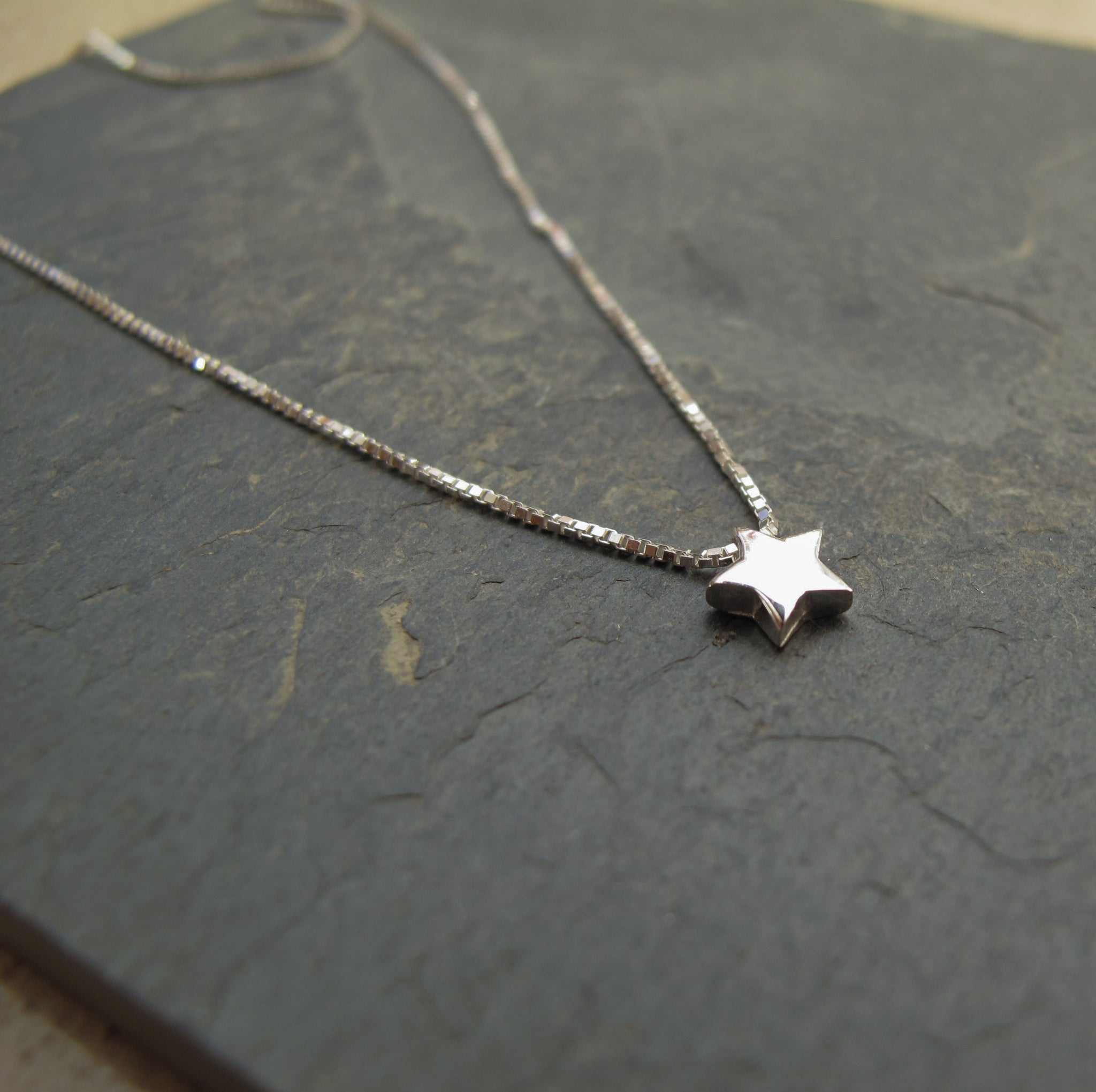 sterling silver star pendant - Red Ted's Jewellery