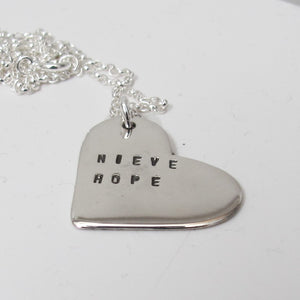 Personalised silver heart pendant - Red Ted's Jewellery