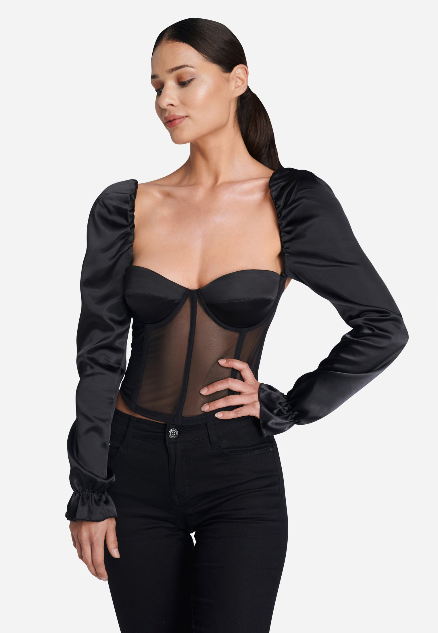 OW INTIMATES SHAE Top Top 002 - Black Caviar