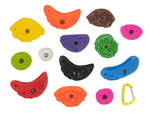 5 pounds of bulk loose climbing holds by element climbing