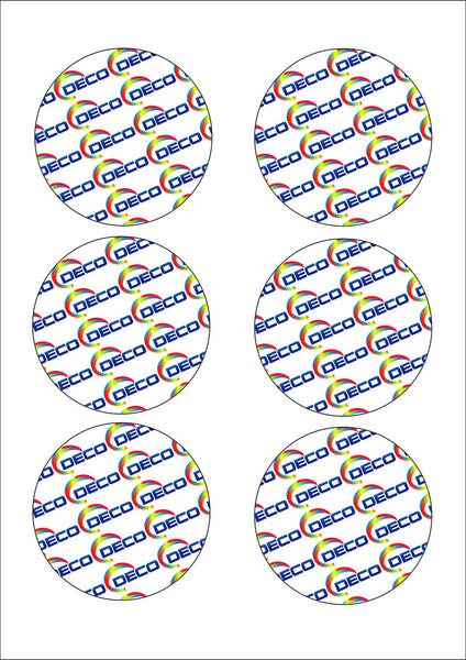 6 Circles (80mm) (24 sheets)