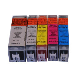 C521 Set Edible Ink Cartridges Canon Printer (IP3600)