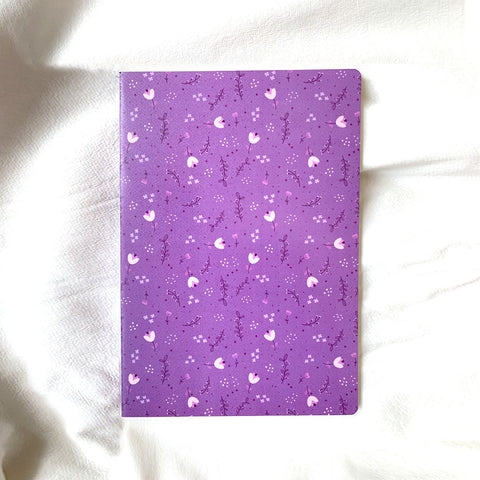 Purple Pollen A4 Book