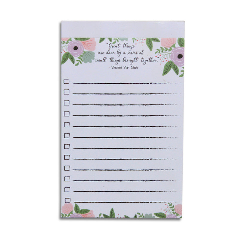 Floral To-Do list