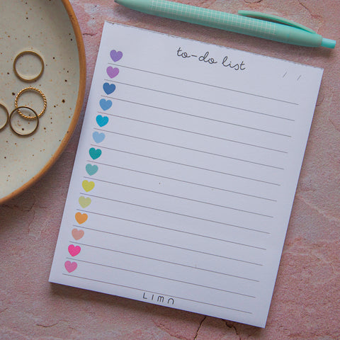 Rainbow Hearts To-Do List