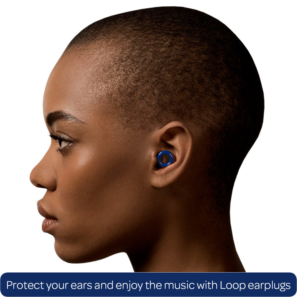 Loop ear plugs for clubbing blue
