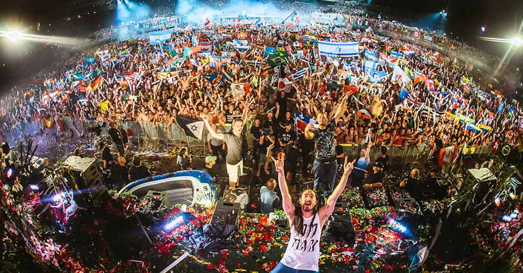 Steve Aoki at the Tomorrowland festival