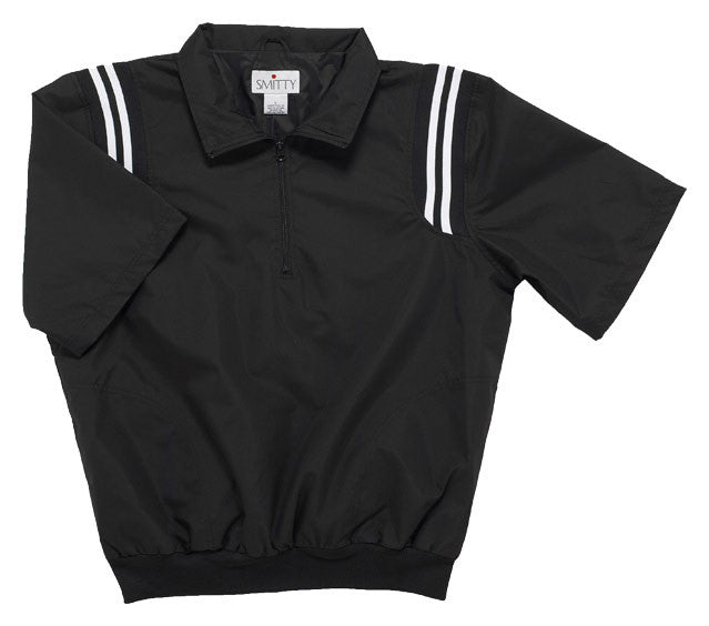 Smitty 324 Half Sleeve Jacket Black with with Shoulder Stripes