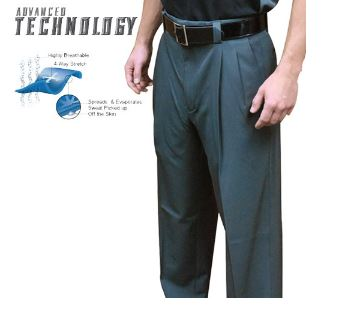 SMITTY PERFORMANCE POLY SPANDEX CHARCOAL GREY UMPIRE PANTS (Plate 392/Base 390)