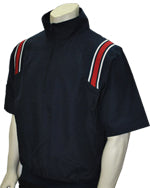 Stripes & Strikes Navy 1/2 Sleeve Pullover Jacket with Half Zipper( Available in open & Closed bottom)