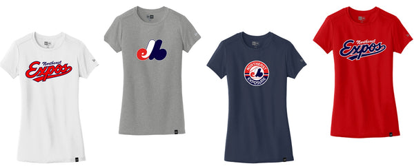 Expos New Era® Ladies Heritage Blend Crew Tee
