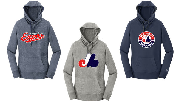 Expos New Era® Ladies French Terry Pullover Hoodie