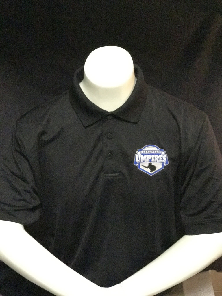 Chesapeake Umpires Off Field Polo (Black/Silver)