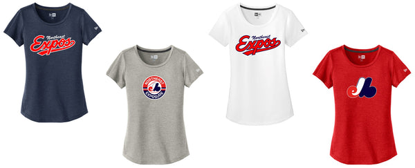 Expos New Era® Ladies Series Performance Scoop Tee
