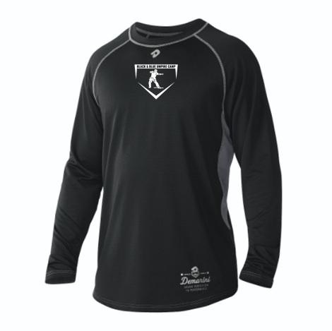 Black & Blue Long Sleeved DeMarini Game Day Shirt