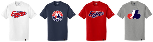 Expos New Era® Men's Heritage Blend Crew Tee
