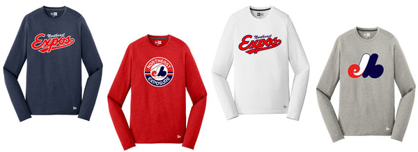 Expos New Era® Series Performance Long Sleeve Crew Tee
