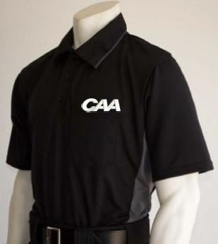 Smitty MLB Short Sleeved Umpire Shirt for CAA - Black with Charcoal Grey