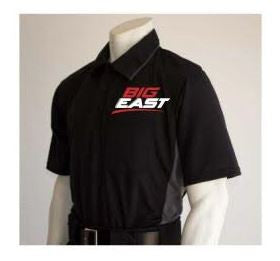 Smitty MLB Short Sleeved Umpire Shirt for Big East - Black with Charcoal Grey
