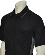 Smitty MLB Short Sleeved Umpire Shirt - Black with Charcoal Grey