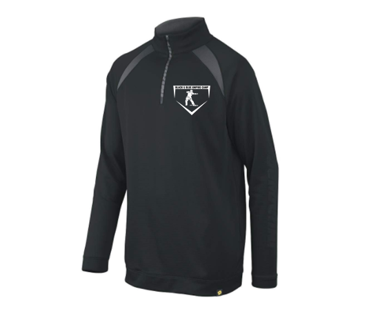 Black & Blue DeMarini Game Day 1/2 Zip Pullover