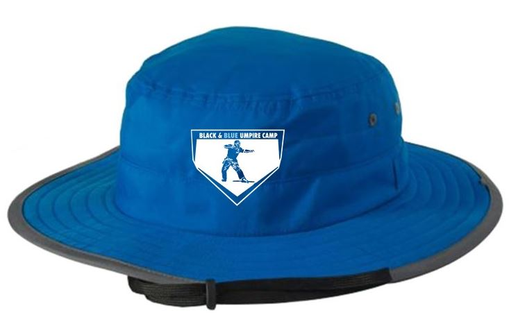 Black & Blue Umpire Camp Bucket Hat (Comes in 2 Colors)