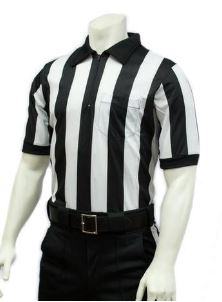"Smitty 2"" Stripe Mesh Short Sleeve Football Referee Shirt"