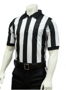 "Smitty 2"" Stripe Mesh Short Sleeve Football Ref Shirt"