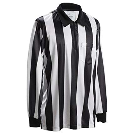 "Smitty 2"" Stripe Long Sleeve Football Referee Shirt"