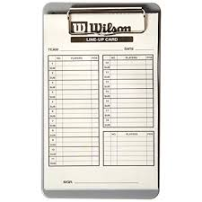 Wilson Line-Up Cards