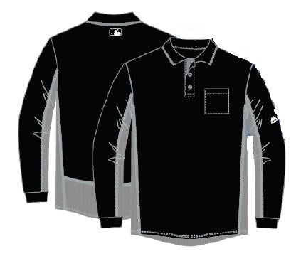 Majestic MLB Style Long Sleeved Umpire Shirt