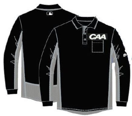 Majestic MLB Long Sleeved Shirt for CAA with Charcoal Grey