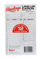 Rawlings Baseball/Softball Replacement Line-Up Cards