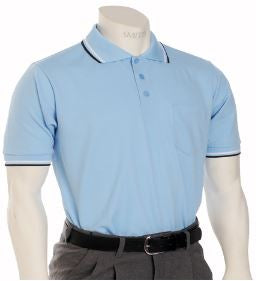 Smitty Traditional Performance Mesh Umpire Shirt - Powder Blue