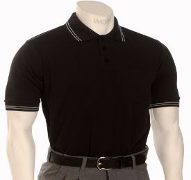 Smitty Traditional Performance Mesh Umpire Shirt - Black