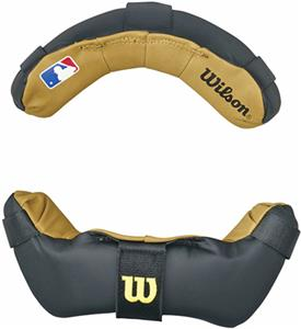 WILSON MLB TWO TONE UMPIRE MASK REPLACEMENT PADS - BLACK AND TAN