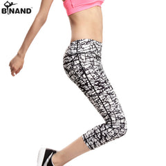 Graffiti Print 3/4 Length Yoga Pants / Leggings