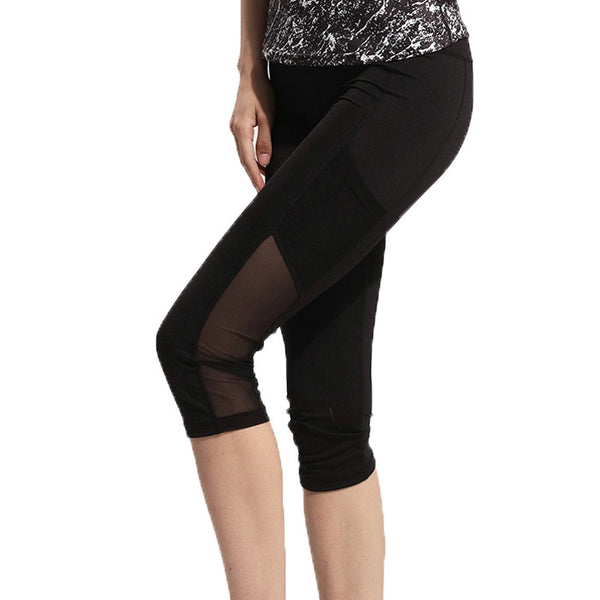 Patchwork Quick Dry Capri Yoga Pants / Leggings