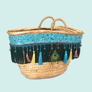 Peacock Beach Bag