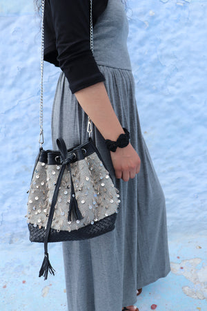 Camelia Crossbody Black & Grey Bag