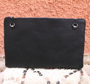 Yasmina Clutch in Sleek Matte Noir