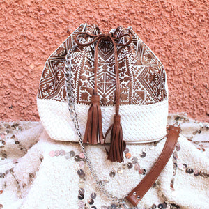 CAMELIA CROSSBODY  BAG -CREAM-