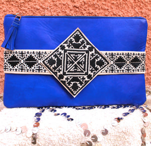 Yasmina Clutch in Cobalt