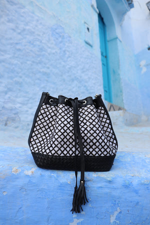 Camelia Crossbody Black & White Bag