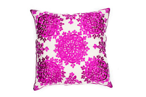 MOROCCAN EMBROIDERED PILLOW CASE -SUNSHINE PINK-