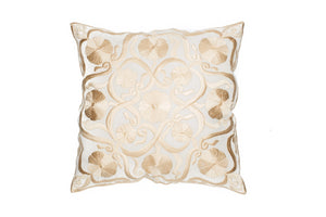 MOROCCAN EMBROIDERED PILLOW CASE -BELLA DESIGN GOLD-